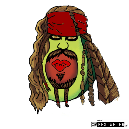 avocado Jack Sparrow piratvocado