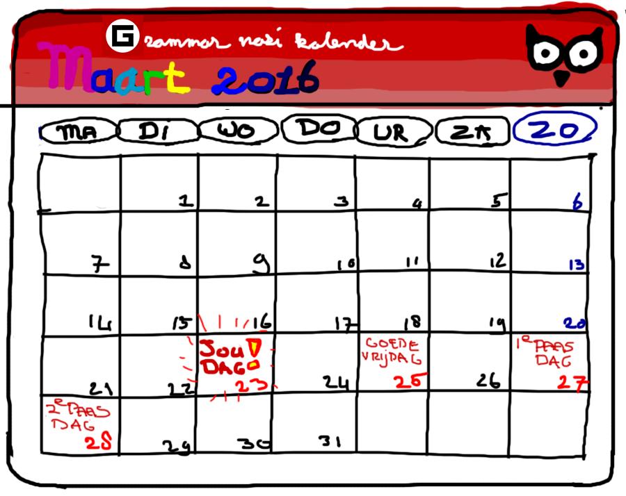 Grammar Nazi kalender
