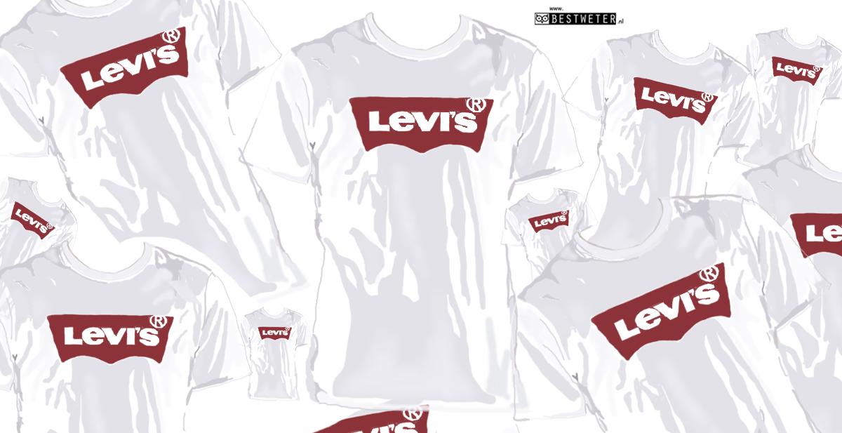 Is Het Wit Met Rode Levis T Shirt De Nieuwe Boef Trui