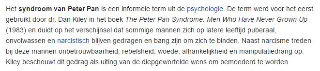 syndroom van peter pan wikipedia