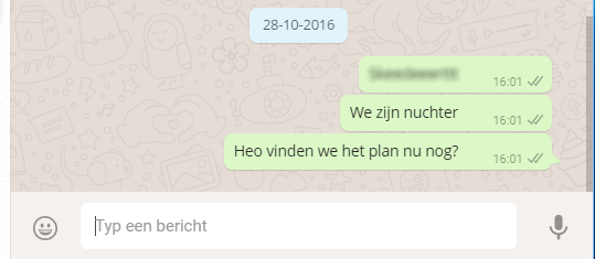 Bestweter Whatsapp gesprek