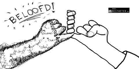 Pinky promise getekend beloftes beloofd harige arm pink handen - Bestweter