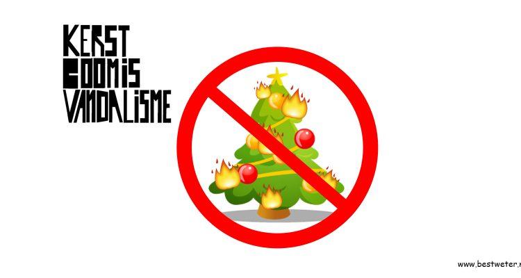 Bestweter Kerstboom is vandalisme zwarte piet is racisme