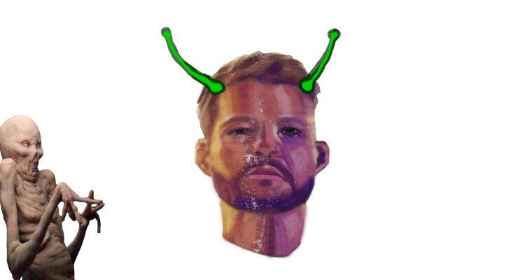 Bestweter alien gezicht zowie van den goorbergh vintage