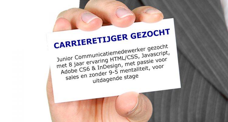 carrieretijger gezocht junior communicatiemedewerker stage