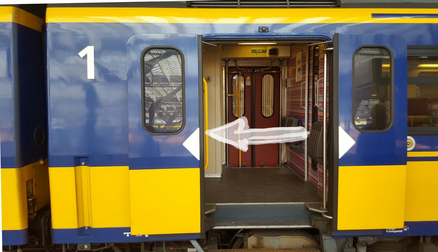 eerste klasse wagon trein NS