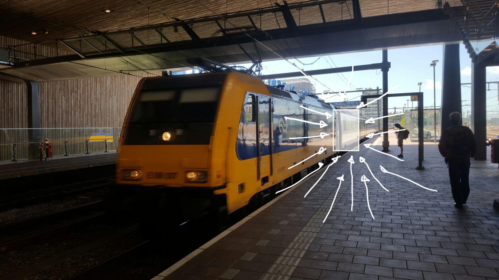 Trein aankomst station Bestweter