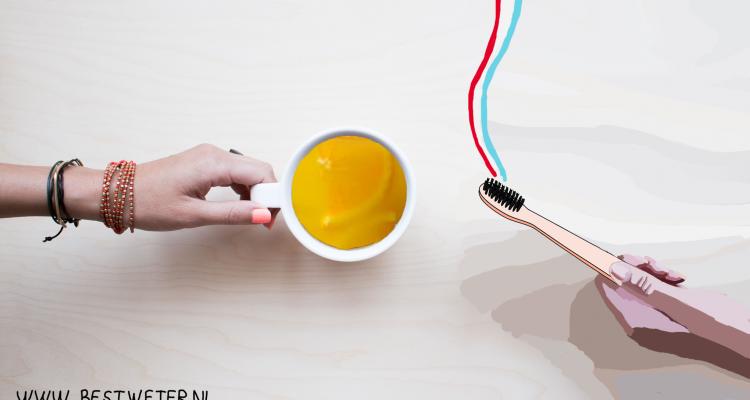 jus d'orange na tanden poetsen tandpasta Bestweter