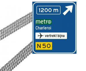 metro column verkeersbord bestweter