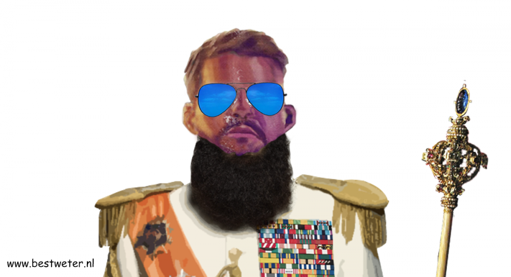 Zowie the dictator met bril